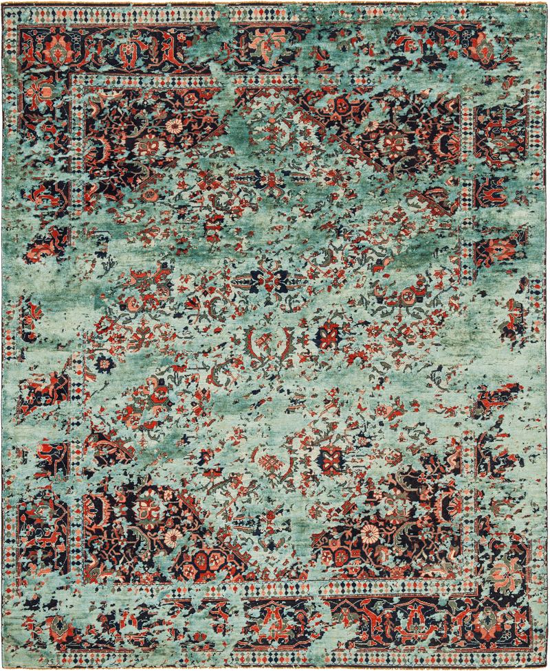 Picture of a Serapi Queenbury Double Sky rug