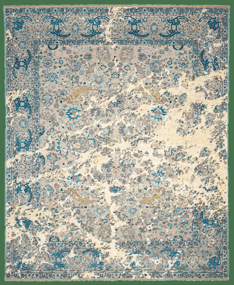 Picture of a Kirman Jungle Sky rug