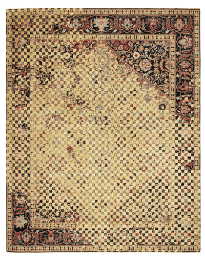 Picture of a Serapi Queensbury Checker Raved rug