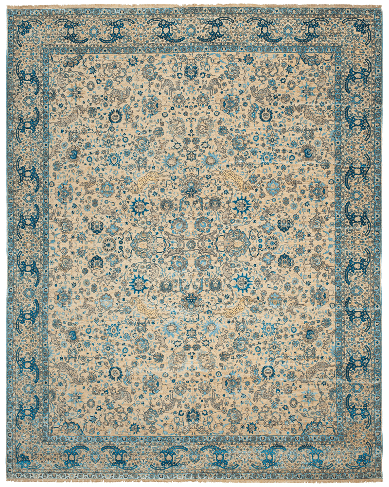 Picture of a Kirman Jungle rug