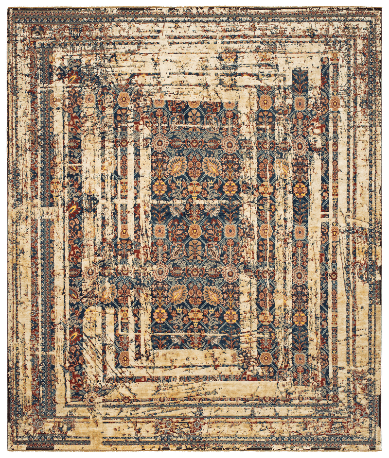 Picture of a Tabriz Canal Frame rug