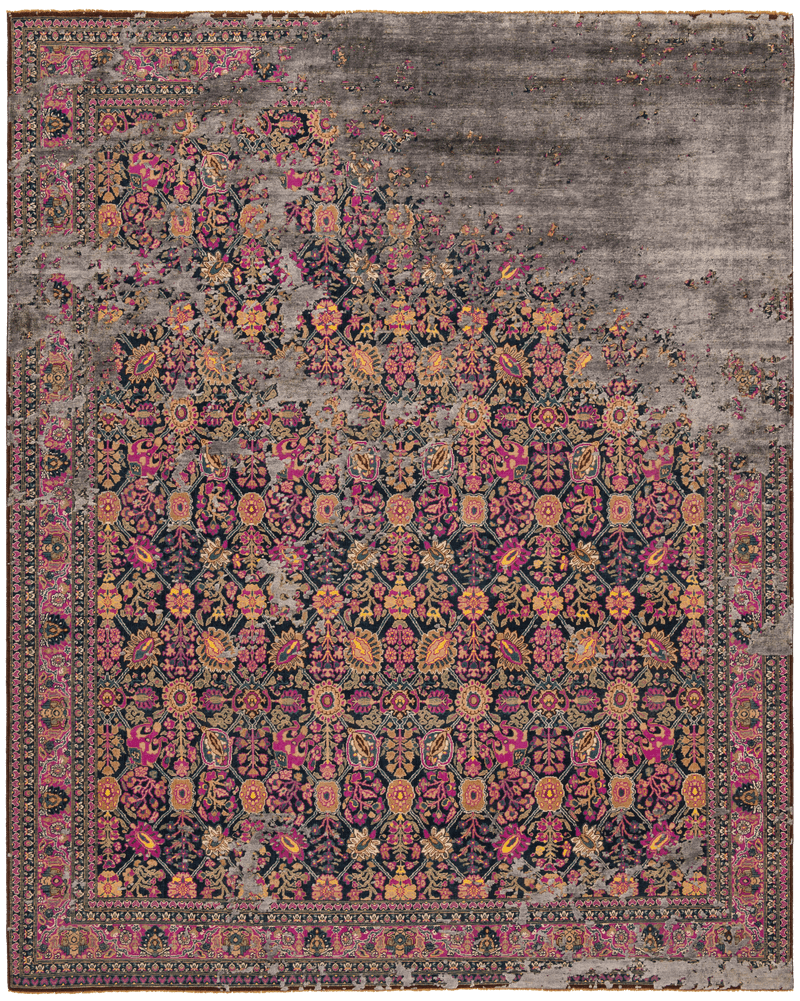 Picture of a Tabriz Canal custom Rocked rug