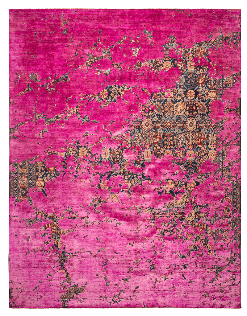 Picture of a Tabriz Canal Aerial rug